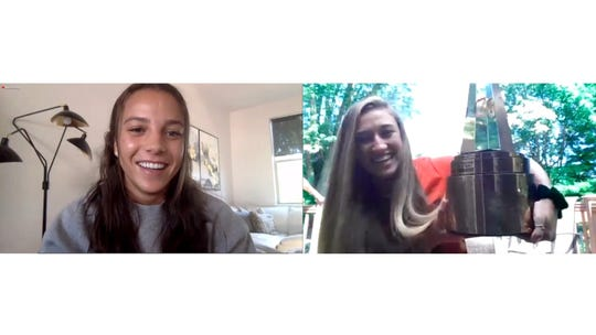 Mallory Pugh tells Emily Mason that she was the Gatorade National Girls Soccer Player of the Year