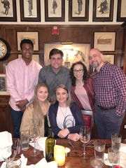 Junior Colson and his family. From left to right: brother Josh's girlfriend, Cara; brother, Josh; mother, Melanie; sister, Amanda; father, Steve.