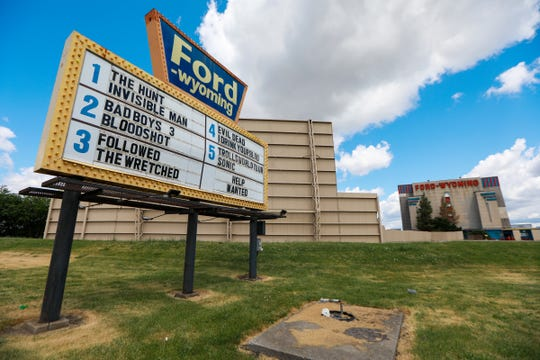 Ford Wyoming Drive In always has double features in Dearborn, Mich. photographed on Wednesday, June 24, 2020.