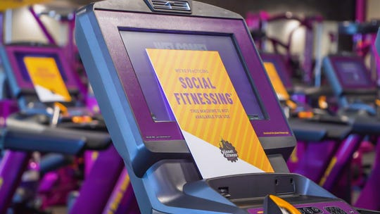 "When Planet Fitness locations reopen they will have fewer cardio machines available for use to ensure social distancing, or what the brand calls ""Social Fitnessing."""