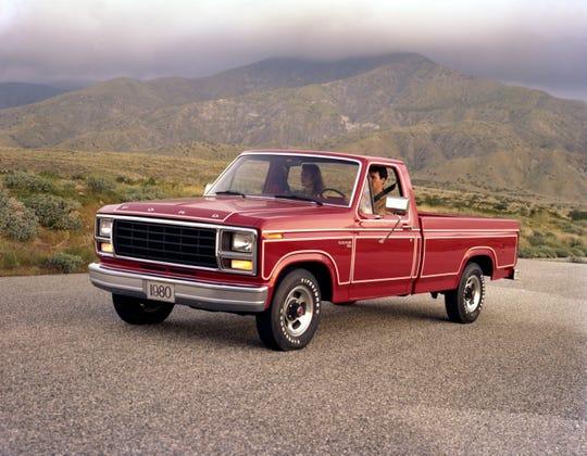 1980 Ford F-150 Custom pickup truck.