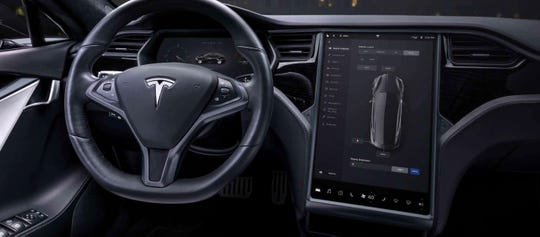 The NHTSA is investigating failures in the 2012 through 2015 Tesla Model S touch screens. A 17-inch touch screen display is shown in the current Model S from Tesla.