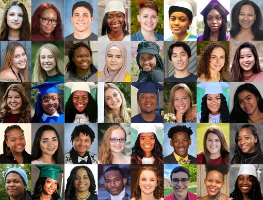 Some of the 2020 Rosa Parks Scholars.