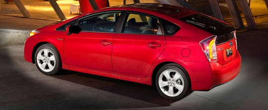 Toyota is recalling about 752,000 gas-electric hybrid vehicles worldwide, including the 2013 Prius, shown.