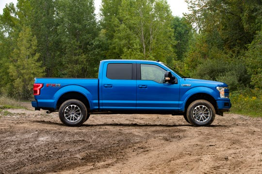The 2019 Ford F-150. A first-ever offering from Ford, the off-road leveling kits bring FOX shocks, exclusive Ford Performance tuning, 2-inch front lift, new front coilovers, vehicle-specific upper front mounts and locking spring pre-load rings
