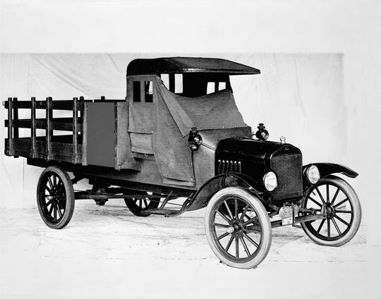 The 1918 Ford Model TT, one-ton stake bed truck.