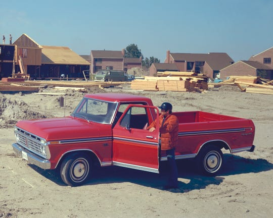 The 1975 Ford F-150 pickup truck.
