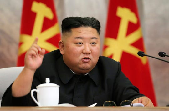 North Korean leader Kim Jong Un placed the city of Kaesong near the border with South Korea under total lockdown over coronavirus concerns and declared a state of emergency to contain a potential outbreak, the North's state media reported Sunday.
