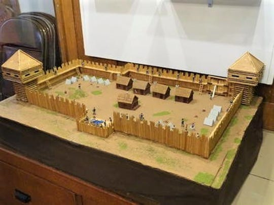 A model of Fort Stephenson, on display at the Sandusky County Historical Society. The fort was among the earliest structures in the area.
