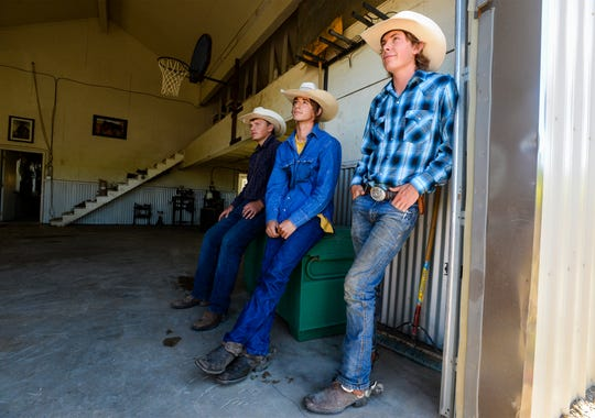 Troy Hennes, left, and Harry Green, center, and Keagan Stroop, right, are taking a 45 day, 500 mile horseback trip through Montana's backcountry to raise money for cancer care and research.