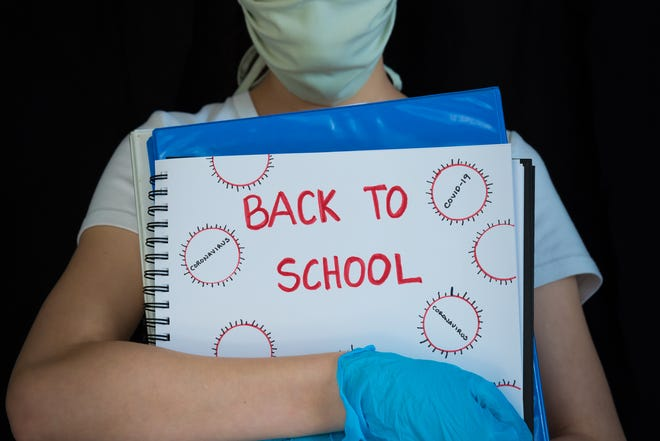 Generic illustration image of a student returning to school during the COVID-19 pandemic.