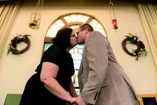 The Revs. Heather Runser McLeod and Sean McLeod celebrated their one-year wedding anniversary May 25 and will have pastored their respective congregations for one year on July 1.