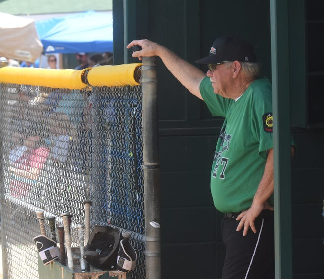 Mountain Home Lockeroom head coach Lester White surveys the field during a recent game at Lester White Field at Cooper Park.