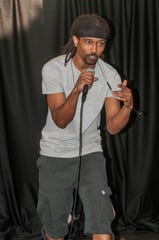 """A-1 Ninja Star performs his original song """"One With The Seas"""" at The Sanctuary in Montgomery."""