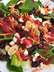 Spinach Cranberry Salad at Pastaggio's Italian Cuisine & Pizza.