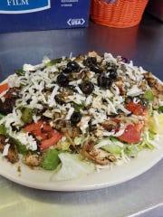 Tiffany's Greek salad at Tiffany's Pizza and Greek Cuisine.