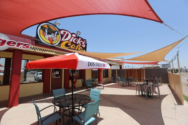 A permanent covered patio is set up at Dick's Cafe in Las Cruces on Wednesday, June 24, 2020.