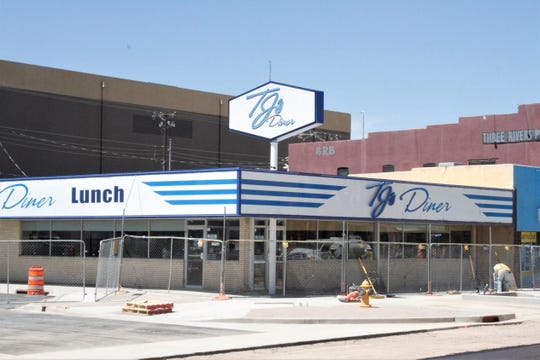 TJ's Diner is pictured, Wednesday, June 24, 2020, in downtown Farmington. The City Council approved a permit process for outdoor dining along Main Street.