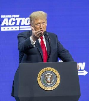 President Donald Trump speaks at Dream City Church in Phoenix on June 23, 2020.