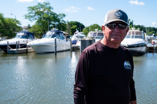 Dave Shorkey, St. Clair Boat Harbor's harbormaster, poses for a portrait at the harbor Wednesday, June 24, 2020, in St. Clair. The harbor is celebrating its 50-year anniversary this weekend.