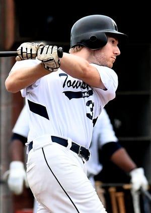 Matt Attig, seen here in a file photo, had a two-run single in York Township's five-run seventh-inning rally vs. Stewartstown. Township won the game, 11-10.