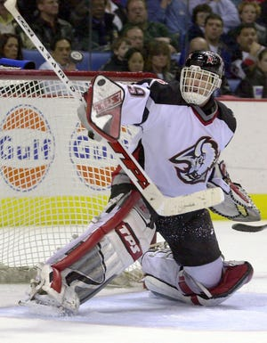 Dominik Hasek played the last three games against Toronto in the Eastern Conference finals and won all three.