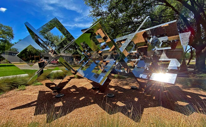 A sculpture on the Angelo State University campus, seen here in this Wednesday, June 24, 2020 photo, is in consideration for a prestigious award.