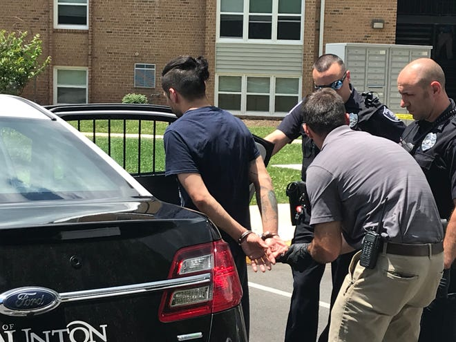 Police arrest Daniel Mead on June 14 after Bradley A. Maurice was stabbed in the chest at the Springhill Village Apartments. Maurice died that same day.