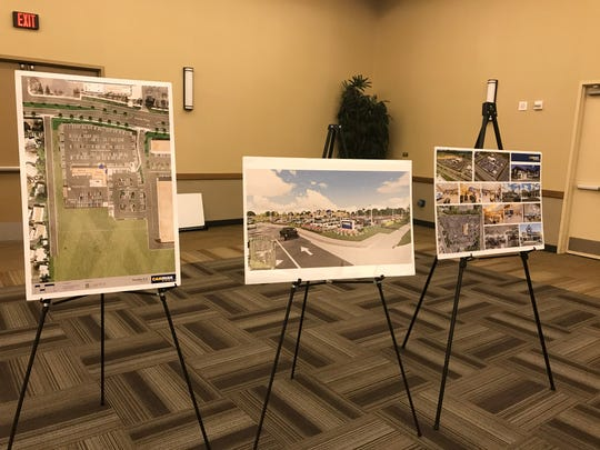 Mockups show CarMax's proposed Visalia location on Mooney Boulevard and Visalia Parkway at Monday's planning commission meeting.