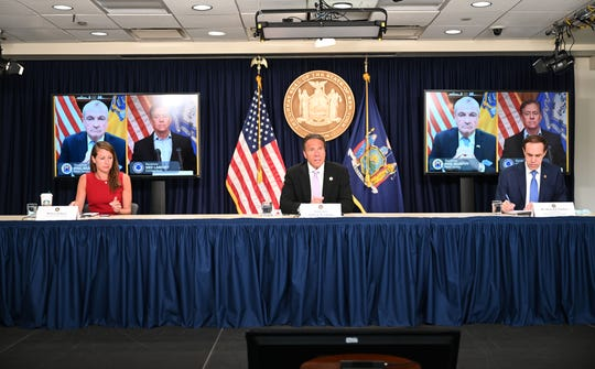 Gov. Andrew M. Cuomo, joined via video conference by New Jersey Gov. Phil Murphy and Connecticut Gov. Ned Lamont, on June 24  announced a joint  travel advisory for  individuals traveling from states with significant community spread of COVID-19.
