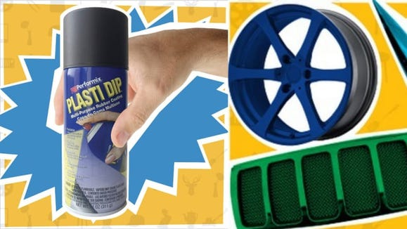 Plasti Dip lets you change the color of your car temporarily.