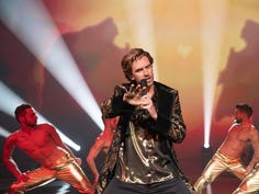 """Dan Stevens brings out his inner song beast in """"Eurovision Song Contest."""""""