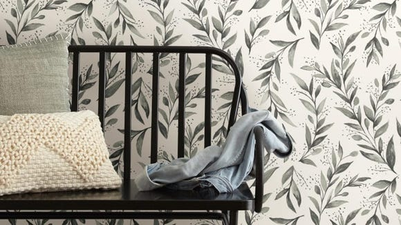 This wallpaper comes off without damaging your walls.