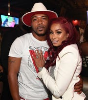 "Maurice ""Mo"" Fayne and Karlie Redd attend ""Ferrari Karlie"" Single Release Party at Buckhead Loft on July 18, 2018 in Atlanta, Georgia."