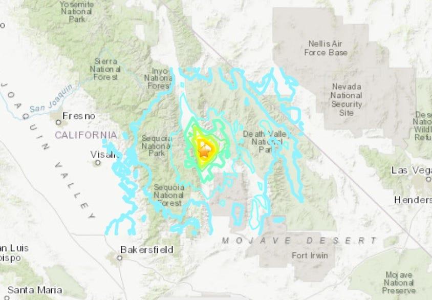 5.8 magnitude earthquake rattles central California