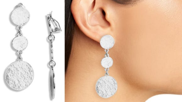 No need to pierce your ears to wear these pretty earrings.