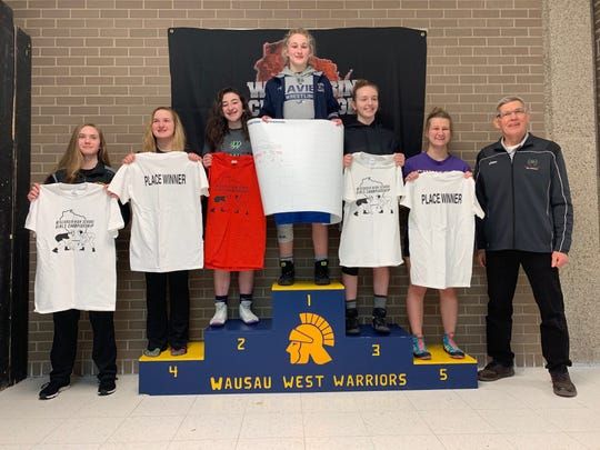 Anna Strand won the 126-pound championship at the Wisconsin High School Girls Wrestling Championship in January at Wausau West.