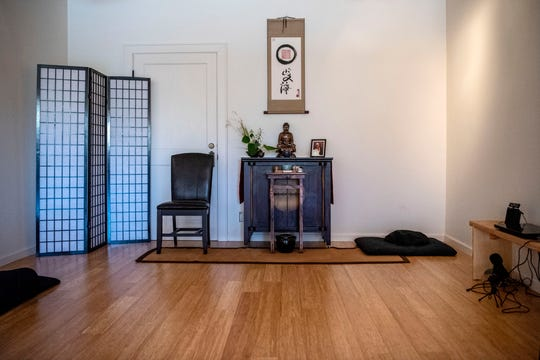 Karma House has converted the former Meyer's Toy World into a yoga and wellness studio, pictured on Thursday, June 25, 2020 in Battle Creek, Mich. The building is also a monastery where three Buddhist Monks currently reside.
