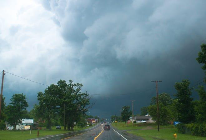 A 2015 storm over Emmett Township.