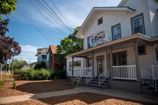 The former Meyer's Toy World building is under renovation on Thursday, June 25, 2020 in Battle Creek, Mich. Karma House is converting the former toy store into a yoga and wellness studio, the building is also a monastery where three Buddhist Monks currently reside.