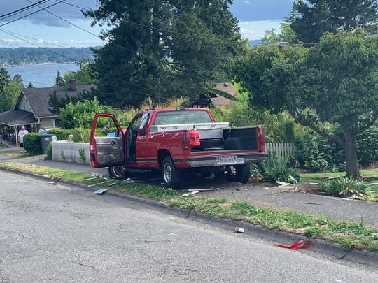 A man suspected Wednesday of being impaired when he crashed into a pregnant woman's vehicle said his accelerator was stuck.