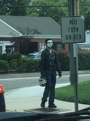 Haddon Township police received multiple calls this week about a man wearing makeup to resemble the Joker.