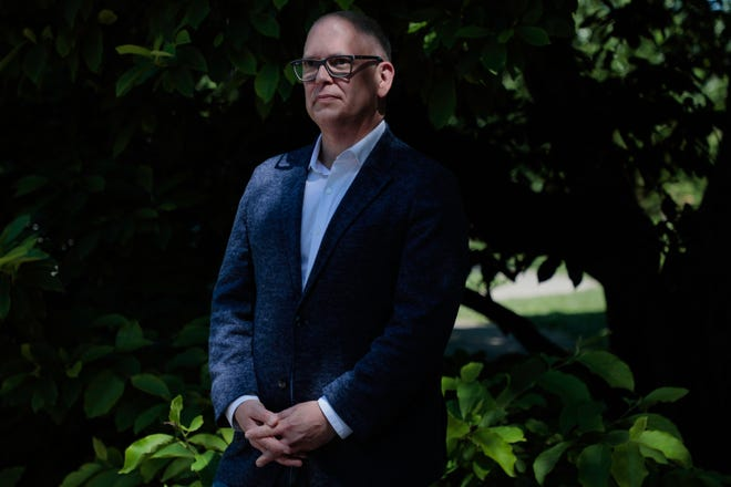 Jim Obergefell poses for a portrait on Thursday, June 25, 2020, at Goodale Park in Columbus, Ohio. Obergefell was the plaintiff in the landmark 2015 U.S. Supreme Court decision Obergefell v. Hodges which legalized same-sex marriage in the United States.