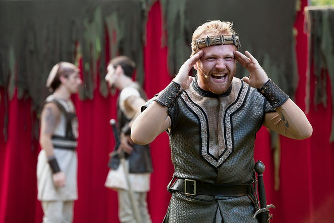"Josh Katawick played the title role in Cincinnati Shakespeare Company's 2016 summer tour of ""Macbeth."""