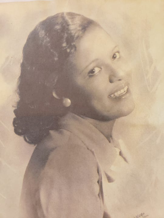 Photo shows Ola Mae Walker during her college years in the mid-1930s; she died at age 106 on June 16, 2020 in Southfield, Michigan (family photo).