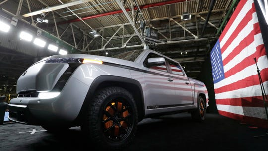 The electric Endurance pick-up truck at Lordstown Motors Corporation is shown on June 25, 2020, in Lordstown, Ohio.