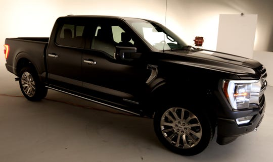 An overall look at the all new 2021 Ford-150 Limited as seen in a photo studio in Ferndale, Michigan on Wednesday, June 24, 2020.