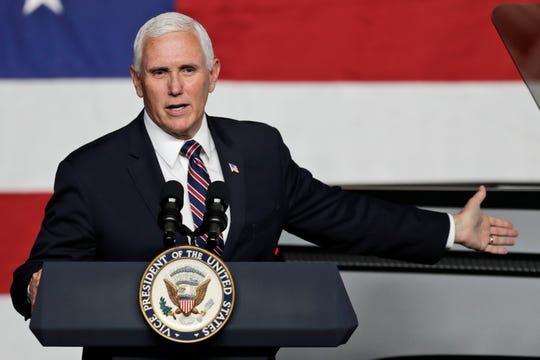 Vice President Mike Pence speaks at the launch of the electric Endurance pickup truck at Lordstown Motors Corporation.