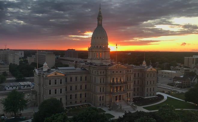 Michigan Capitol difoto pada hari Selasa. 23 Juni 2020.