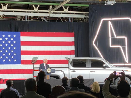 Vice President Mike Pence at the debut of the Lordstown Motors Endurance truck on Thursday.